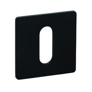 Sleutelrozet Slim set vierkant BLACK